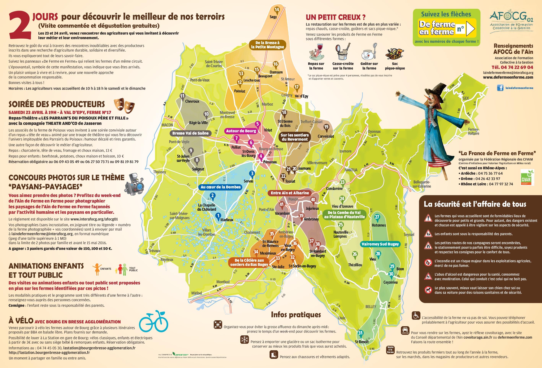Ain carte touristique voyages cartes for Carte touristique